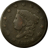 Monnaie, États-Unis, Coronet Cent, Cent, 1819, Philadelphie, TB+, Cuivre, KM:45 - 1816-1839: Coronet Head (Testa Coronata