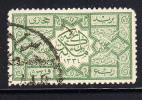 Saudi Arabia Used Scott #L10 1/4pi Green Carved Door Panel - Arabie Saoudite