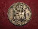Belgium - 1 Franc 1867 Leopold II Roi Des Belges, L Wiener Silver 8125 - 1865-1909: Leopold II