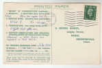 1939 Swindon  COVER Postcard METEOROLOGY Report WEATHER STATION Re THUNDERSTORM Gb  Stamps - Climate & Meteorology