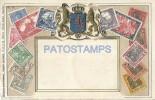 23240 GERMANY DEUTSCHES REICH ART EMBOSSED HERALDRY & MULTI STAMPS POSTAL POSTCARD - Deutschland