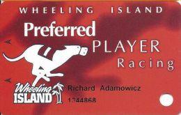 Wheeling Island Preferred Player Racing Card - Casino Cards