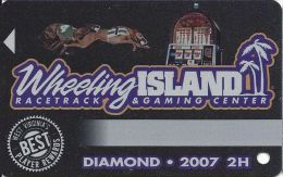 Wheeling Island Diamond Level Slot Card 2007 2H - Casino Cards
