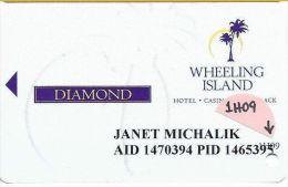 Wheeling Island Diamond Level Slot Card 1H09 (2009) - Casino Cards