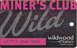 Wildwood Casino Cripple Creek CO Miner´s Club Wild Card @2012 - Casino Cards