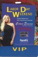 Harrah's Las Vegas Labor Day Weekend VIP Credentials/Badge - Casino Cards