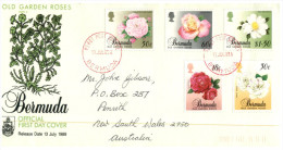 (900)  Bermuda FDC Cover - 1989 Flowers - Bermudes