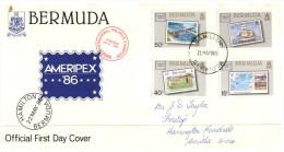 (900)  Bermuda FDC Cover - 1986 - Ameripex 86 - Bermudes
