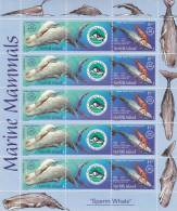 Norfolk Island-2002 Whales Joint Issue With New Caledonia Sheetlet MNH - Norfolk Island
