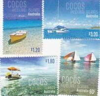 Cocos Islands 2011 Boats MNH Set - Ships