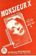 Monsieur X. Edith Piaf. - Partitions Musicales Anciennes
