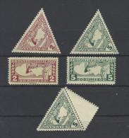Mi. Nr. 217, 218, 219, 220 und 218 LF postfrisch