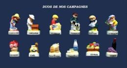 SERIE COMPLETE DE FEVES DUO DE NOS CAMPAGNES    2016 - Cartoons