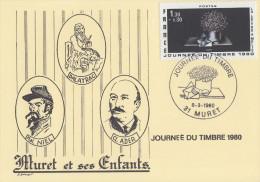 Carte Locale  1er  jour  JOURNEE  du  TIMBRE   MURET (31)   1980