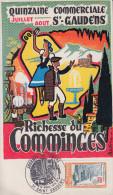 Carte Locale  1er  jour  JOURNEE  du  TIMBRE   SAINT  GAUDENS  (31)   1980