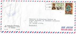 Lettre  De COTONOU    Avec 2 Timbres      Pour PARIS - Bénin – Dahomey (1960-...)