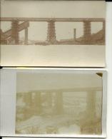 2 CP Belarus Russie  Grodno Hrodna Pont Brucken 24 Septembre Au 6 Décembre 1915 Carte Photo - Belarus