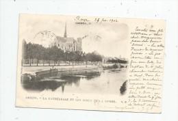 Cp , 80 , AMIENS , La Cathédrale Et Les Bords De La SOMME , Dos Simple , Voyagée 1902 - Amiens