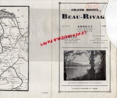 74 - ANNECY - DEPLIANT TOURISTIQUE GRAND HOTEL BEAU RIVAGE- - Tourism Brochures