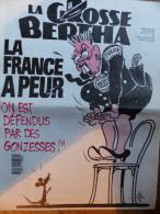 Grosse Bertha N� 24, du 20/06/1991, la France a peur, Cabu, 7 � port compris