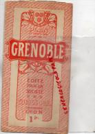 38 - GRENOBLE - GUIDES POL 19 PLACE BELLECOUR LYON- PLAN ANNEES 40-50 - Dépliants Touristiques