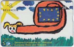 BELGIUM A-592 Hologram Belgacom - Cartoon, Animal, Snail - 729A - used