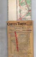 37-36- 86-23-79- CARTES TARIDE N° 12- ROUTIERE- TOURAINE  BERRY -PARTHENAY- POITIERS-LE BLANC- BOURGES-LA CHATRE-TOURS- - Dépliants Touristiques