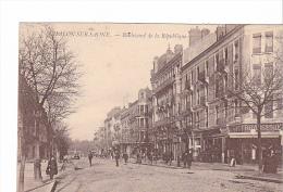 25384 CHALON SUR SAONE - Boulevard République - Brasserie - Ed Bourgeois Frere ? - Chalon Sur Saone
