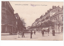 25385 CHALON SUR SAONE - Boulevard République - BF Chalon - Publicite Brunnet Poeles