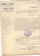 commission cantonale d�haubourdin-dossier boulet hippplyte-steenwerck-8-12-1921*recommand�e