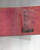 33 - BORDEAUX - GUIDE ILLUSTRE 1930- ALBIN MICHEL EDITEUR- AVEC PLAN DES RUES- CAVE DU MEDOC-GROENDAHL-ORTALA CORDERIE - Dépliants Touristiques