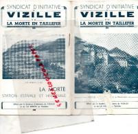 38 - VIZILLE - GUIDE TOURISTIQUE-LA MORTE EN TAILLEFER- SYNDICAT INITIATIVE-STATION DE LAFFREY- - Dépliants Touristiques