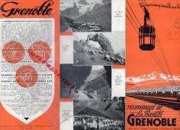 38 - GRENOBLE - DEPLIANT TOURISTIQUE TELEFERIQUE DE LA BASTILLE- LA MEIJE-PIERRE PERCEE-CHARTREUSE- - Dépliants Touristiques