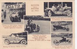 STRASBOURG - Carte Pub Des Automobiles MATHIS - Les Succès En 1913 - Course De Côte D'ANGLET, Meeting De MOSCOU (67) - Strasbourg