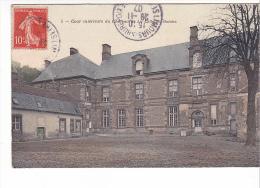 25389 CELLES LES BORDES Cour Intérieure Du Château - 5 Bourdier -colorisée - France