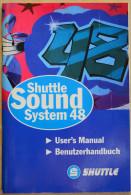 """Programm/Benutzerhandbuch Für """"Shuttle Sound System 48"""" Von Shuttle - In Deutsch- Gebraucht - Material Und Zubehör"""
