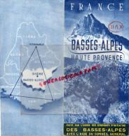 04- 05- BASSES ALPES HAUTE PROVENCE-ENTREVAUX-FORCALQUIER-DIGNE- GREOUX- BARREME-CASTELLANE-MANOSQUE-SISTERON- - Dépliants Touristiques