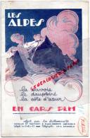 73 - 38-05-04- BEAU DEPLIANT LES ALPES- EN CARS PLM- ETS. TRAFFORT ET REPELLIN- GRENOBLE-ROB D'AC 1926-CHAMONIX-BRIANCON - Dépliants Touristiques
