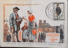 FRANCE 1961 - Journ�e Nationale du Timbre - Au verso Vignette de Toulon - TOULON 18.03.1961 - En l' Etat -