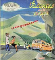 38 - GRENOBLE - VACANCES DANS LES ALPES-AUTOCARS RICOU -CHAMONIX-GENEVE-LYON-VALENCE-BRIANCON-CHAMBERY-VOIRON-URIAGE- - Dépliants Touristiques