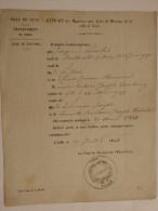 Extrait Acte De Mariage De J. Poncelet Natif De Bantheville (55) Et De Aimée Cambray Native De Lille. Marié à Lille Le - Historical Documents