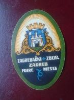 Croatia  Zagreb Zagrebacki Zbor  Foir Messe  1930's Poster Stamps Levélzáró  Cinderella  - Werbemarken  - D133571.11 - Croazia