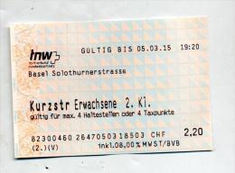 Ticket Bus Tnw Suisse - Bus