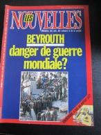 Les Nouvelles Littéraires N° 2902 :  BEYROUTH - DANGER DE GUERRE MONDIALE - CHERCHEUR - C'EST UN METIER CA ? 1983 - Non Classificati
