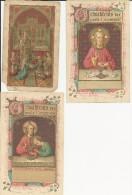 Herinneringsprentjes 1e Communie : 3  Zeer Oude     (souvenirs De La Première Communion ) - Godsdienst & Esoterisme