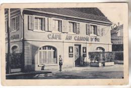 68 Dannemarie- Café Au Canon D'or (Joseph FLURY ) Carte Photo Non Circulée, Personnage, Tb état - Dannemarie
