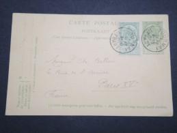 BELGIQUE - Entier Postal Pour La France En 1905 - A Voir - Lot P13121 - Stamped Stationery