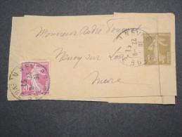 FRANCE - Entier Postal ( Bande Journal ) Pour La France  Type Semeuse - A Voir - Lot P13122 - Enteros Postales
