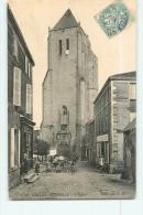 CELLES SUR BELLE - L' EGLISE - Beau Plan Animé Devant Hôtel Du Chêne Vert - BE - Ed. V.G. - 2 Scans - Celles-sur-Belle
