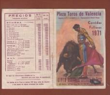 Plaza Toros De Valencia 1971 - Programas